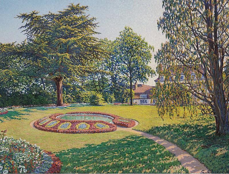 Gustave Cariot - Le Parc du Chateau, 1913. Картины с аукционов Sotheby's