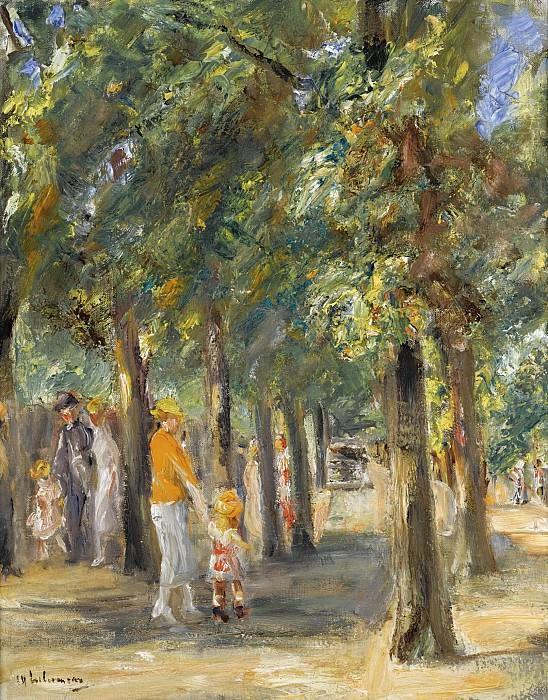 Max Liebermann - Scene in Tiergarten, 1927. Sotheby's
