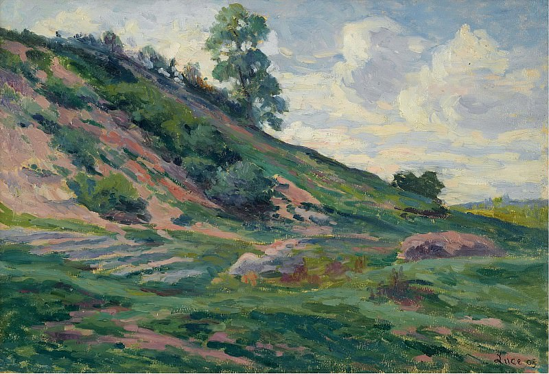 Maximilien Luce - The Outskirts of Moulineuz near Etampes, 1905. Sotheby's