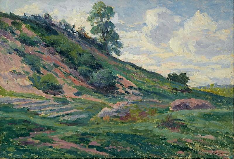 Люс, Максимильен - The Outskirts of Moulineuz near Etampes, 1905. Картины с аукционов Sotheby's