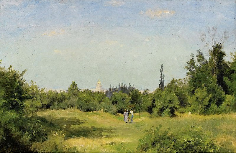 Stanislas Lepine - La Plaine dIssy-les-Moulineaux, 1877-80. Sotheby's