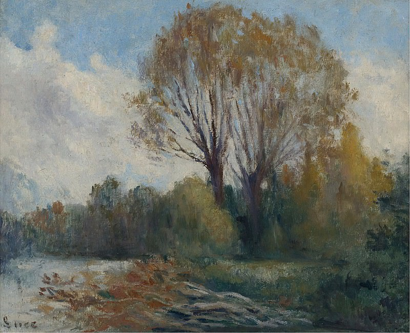 Maximilien Luce - Banks of the Seine in Autumn. Sotheby's