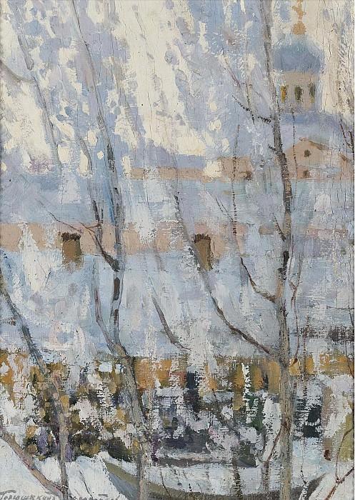 Ivan Goriushkin-Sorokopudov - Winter Landscape. Sotheby's