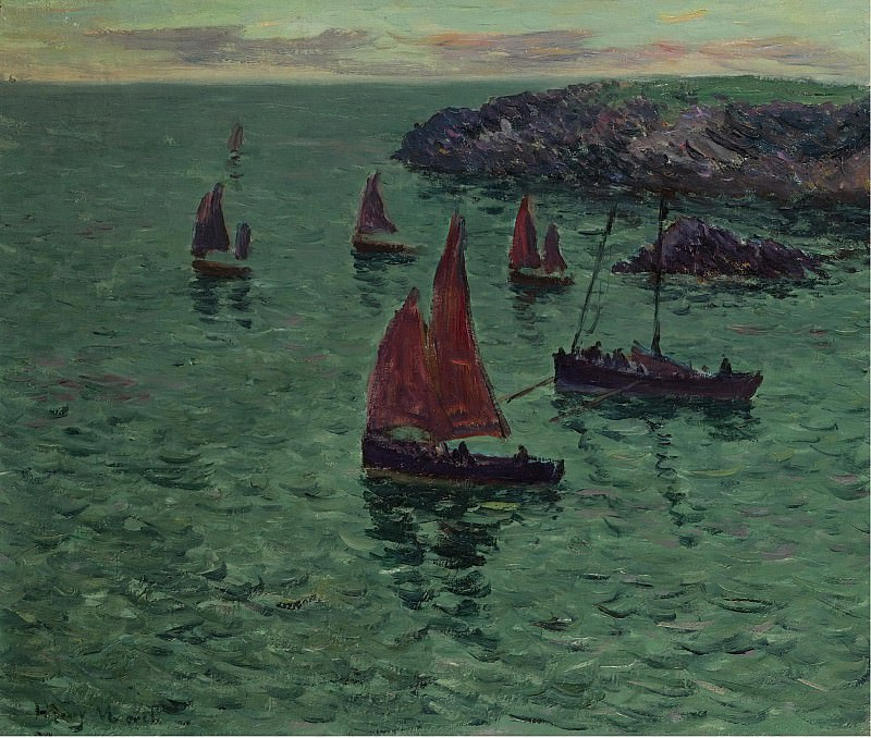 Henry Moret - The Sea with Pinnaces, 1897. Sotheby's