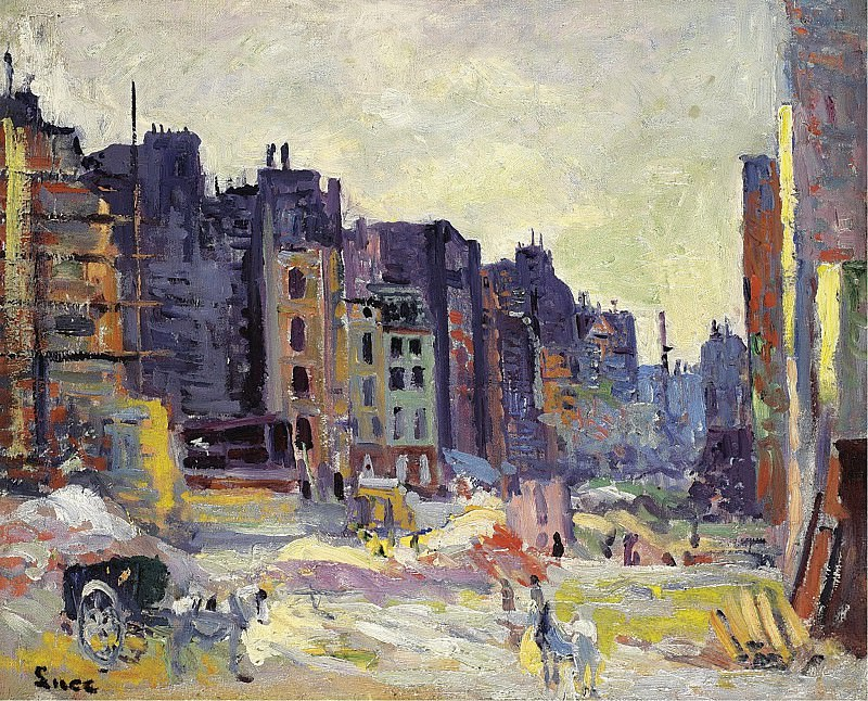 Maximilien Luce - Digging at the Reaumur Street. Sotheby's