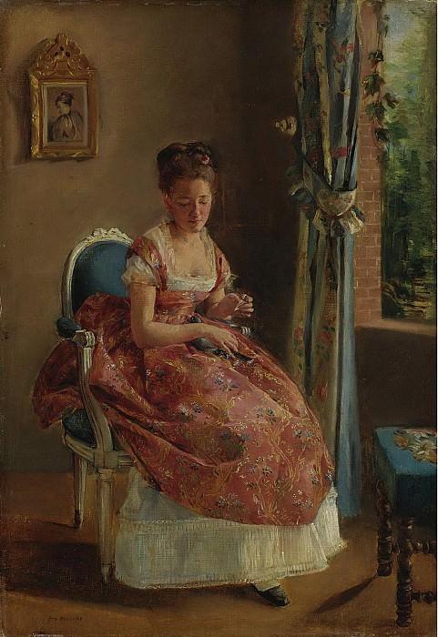 Eva Gonzales - The Girl, 1865-70. Sotheby's