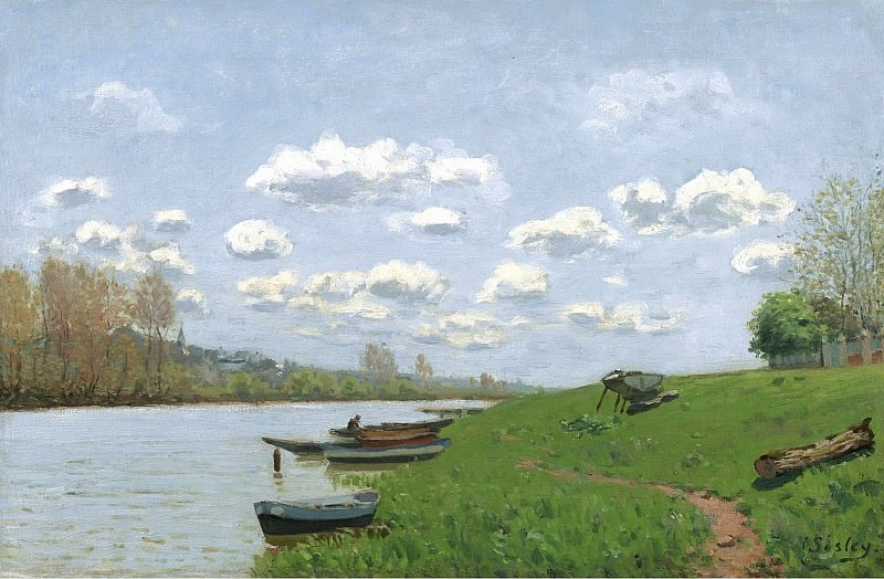 Alfred Sisley - The Seine at Argenteuil, 1870. Sotheby's
