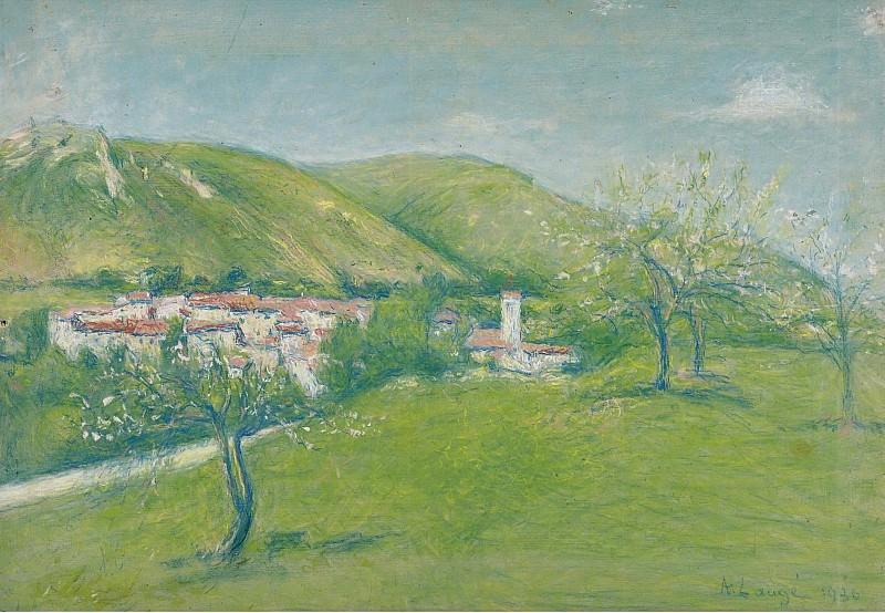 Achille Lauge - View of Ginoles-les-Bains, 1936. Sotheby's