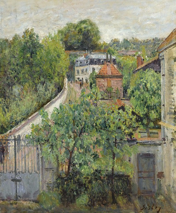 Alfred Sisley - View of Serves, 1879. Sotheby's