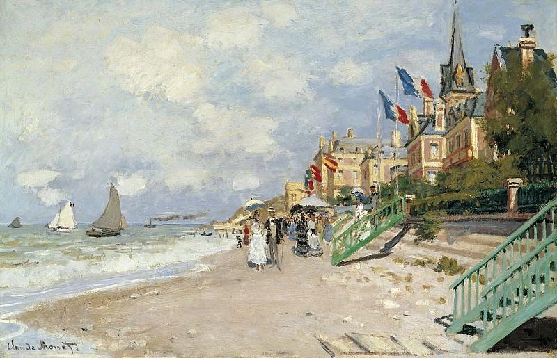 Claude Monet - The Sandbeach at Trouville, 1870. Sotheby's