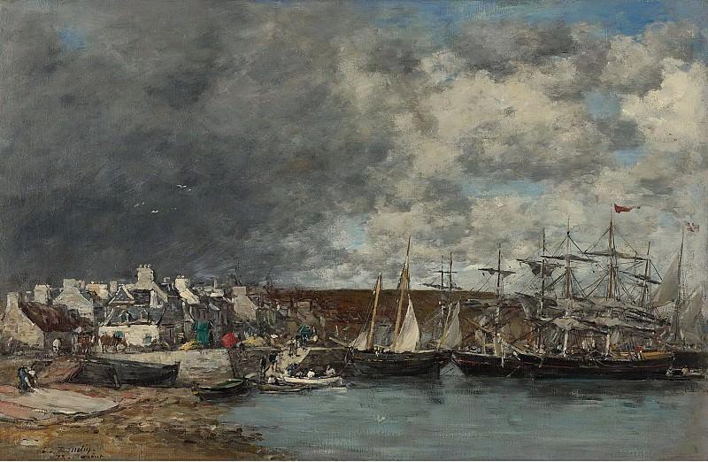 Eugene Boudin - The Port of Camaret, 1872. Sotheby's