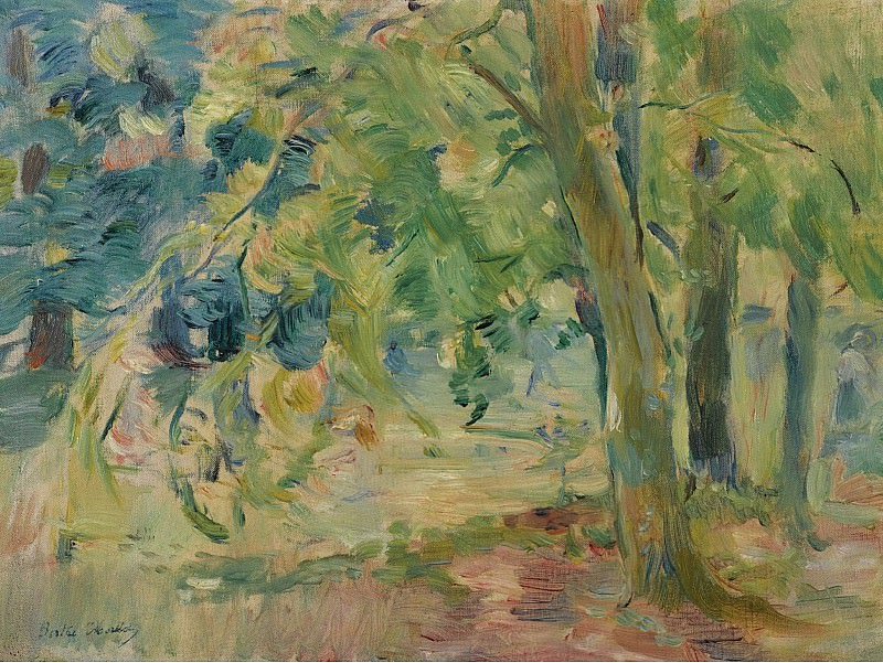 Berthe Morisot - The Forest of Mesnil, 1892. Картины с аукционов Sotheby's