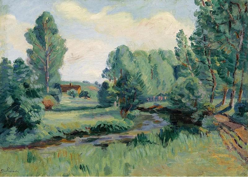 Armand Guillaumin - Jouy, Ile de France, 1900. Картины с аукционов Sotheby's