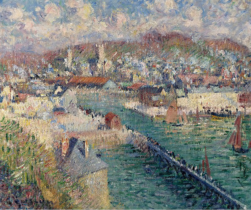 Gustave Loiseau - The Port of Fecamp, 1925. Sotheby's