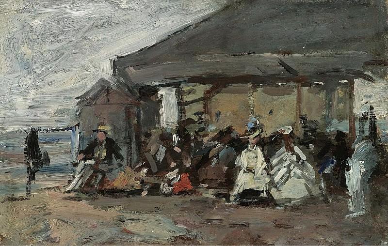 Eugene Boudin - Scene on the Beach, 1888-95. Sotheby's