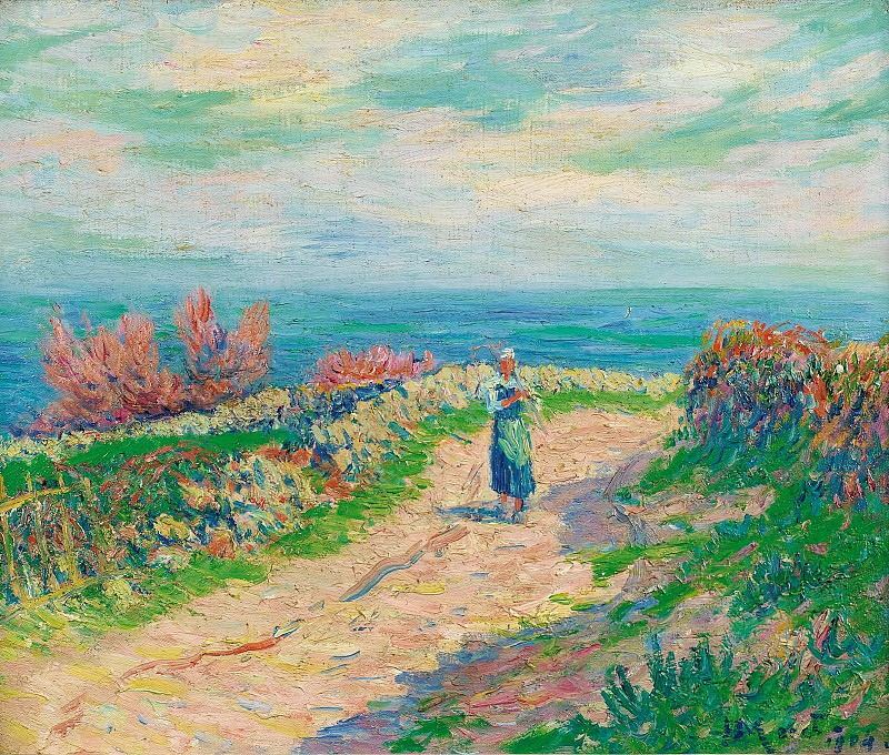 Henry Moret - The Road near the Seascape, 1904. Sotheby's
