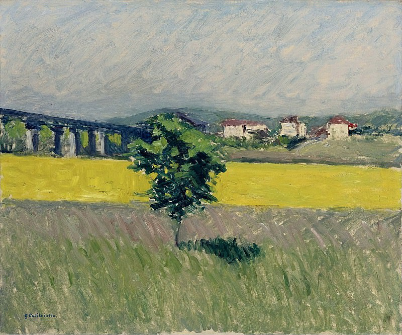 Gustave Cailleibotte - The Lawn near the Bridge of Argenteuil, 1882-86. Sotheby's
