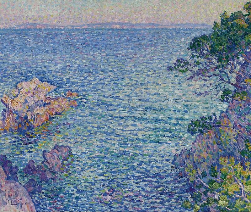 Theo van Rysselberghe - La Pointe du Rossignol, 1904. Sotheby's