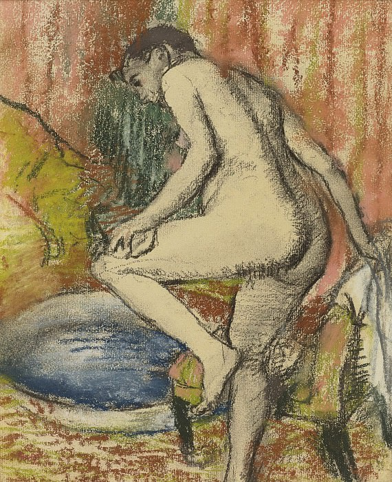 Edgar Degas - Woman after Bathing, 1883. Sotheby's