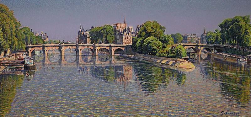 Gustave Cariot - Pont Neuf. Картины с аукционов Sotheby's