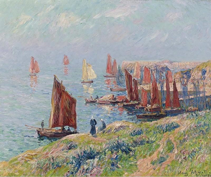 Henry Moret - Returning of the Boats, 1907. Sotheby's