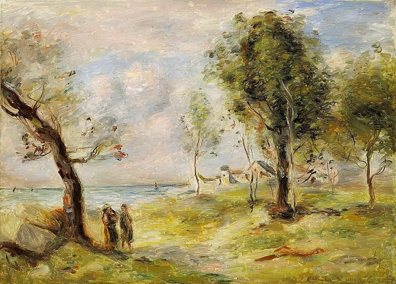Pierre Auguste Renoir - Landscape (after Corot), 1897-98. Sotheby's