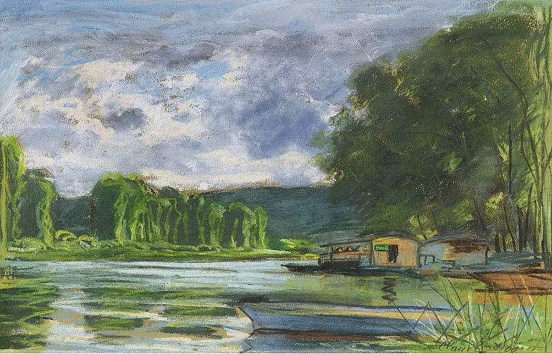 Claude Monet - The Banks of the Seine near Jeufosse (Eure), 1880. Картины с аукционов Sotheby's