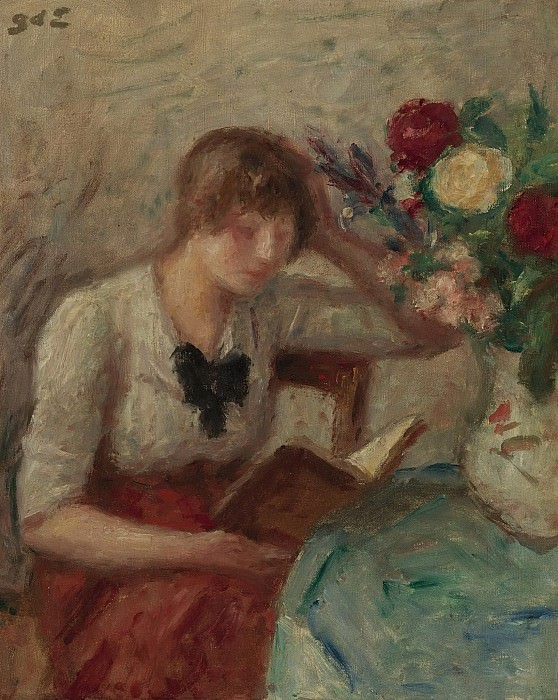 Georges dEspagnat - Young Woman Reading. Картины с аукционов Sotheby's
