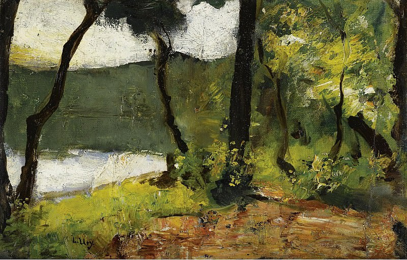 Lesser Ury - Lake in Mark Brandenburg, 1910-20. Sotheby's