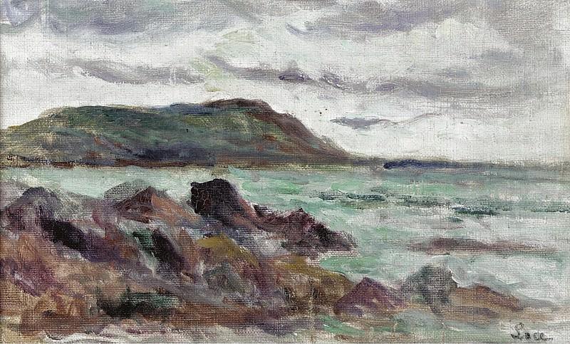 Maximilien Luce - Seascape in Bretogne near Saint-Malo, 1934-35. Sotheby's