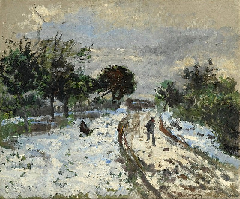 Pierre Auguste Renoir - Snowy Landscape, 1875. Sotheby's