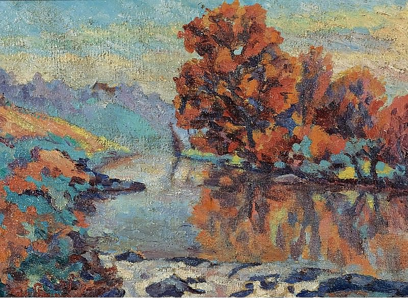 Armand Guillaumin - The Creuse, 1908. Картины с аукционов Sotheby's