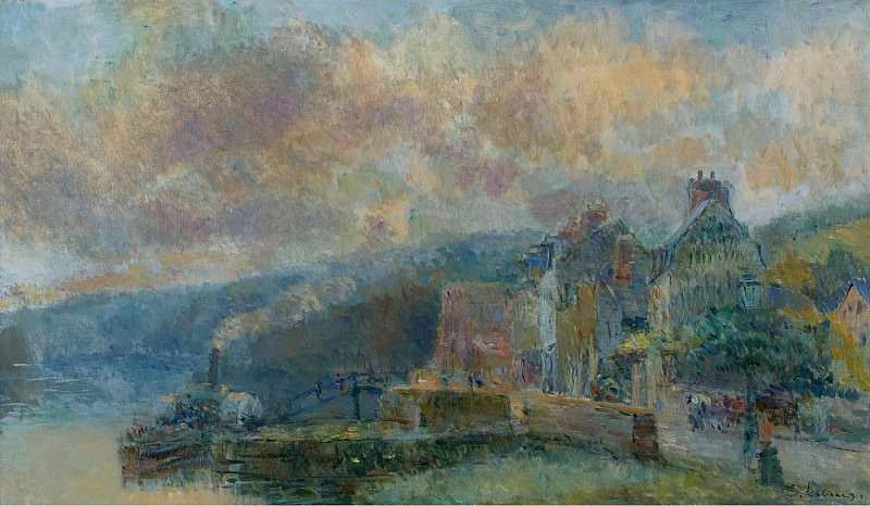 Albert Lebourg - The Streamboat at Croisset. Sotheby's