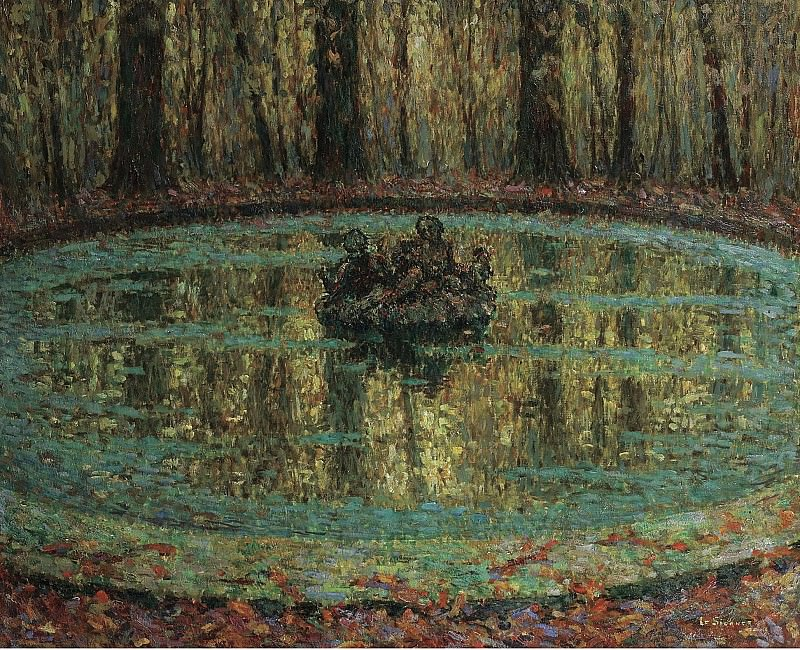 Henri Le Sidaner - The Pool with Duckweed, 1916. Sotheby's