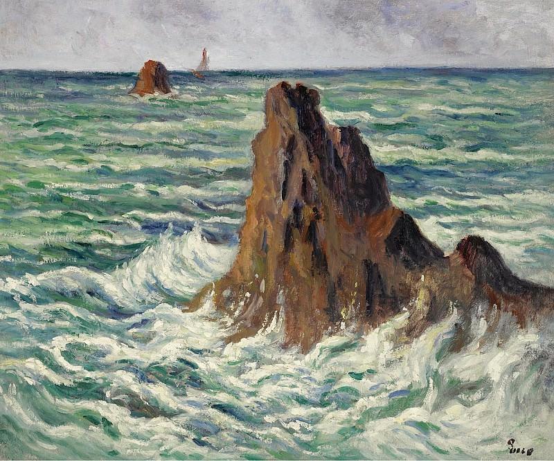 Люс, Максимильен - LocquIivy, the Reefs, 1914-15. Картины с аукционов Sotheby's