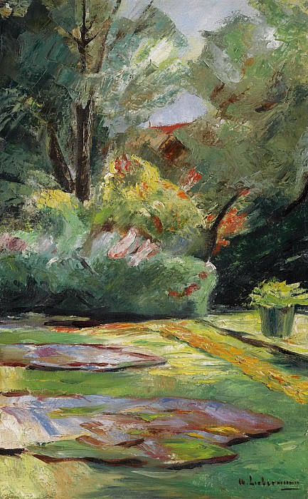 Max Liebermann - Wannsee Garden, Flower Terrace to the Northeast, 1925. Sotheby's
