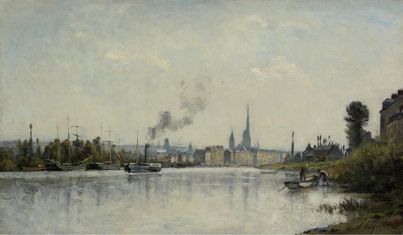 Stanislas Lepine - The Seine at Rouen. Sotheby's