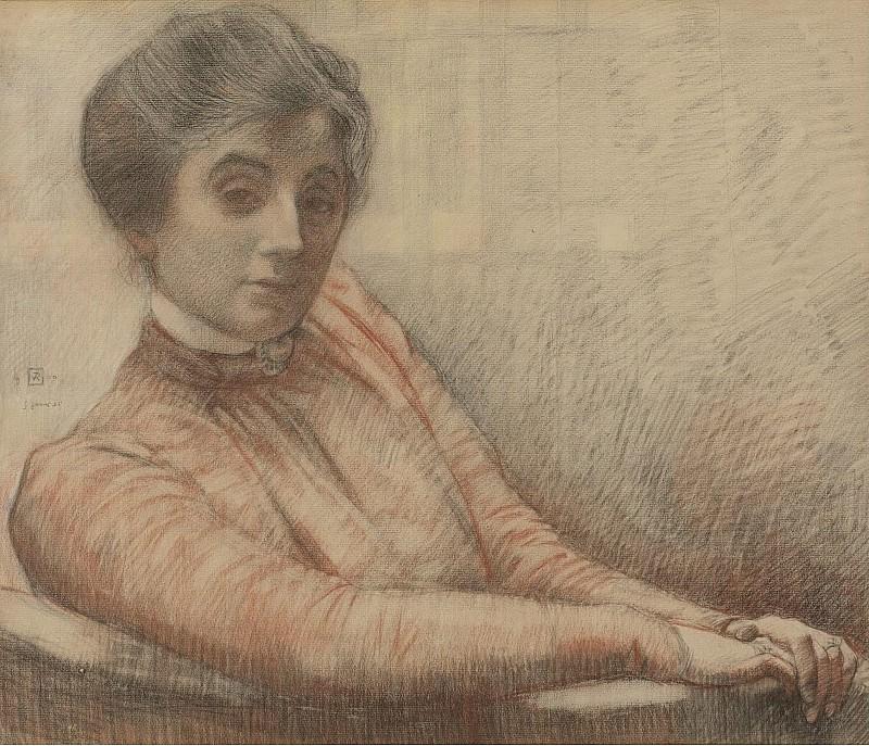 Theo van Rysselberghe - Portrait de Maria Van Rysselberghe, 1900. Sotheby's
