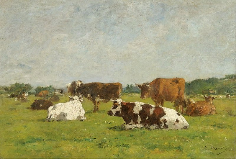 Eugene Boudin - Cows at the Pasture, 1880-85 01. Sotheby's