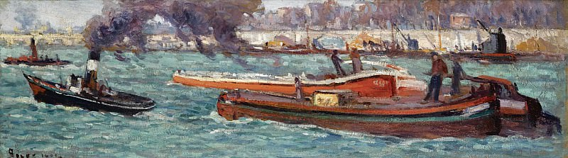 Maximilien Luce - The Seine, 1914. Sotheby's