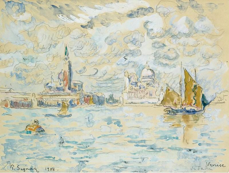 Paul Signac - Venice, 1908. Sotheby's