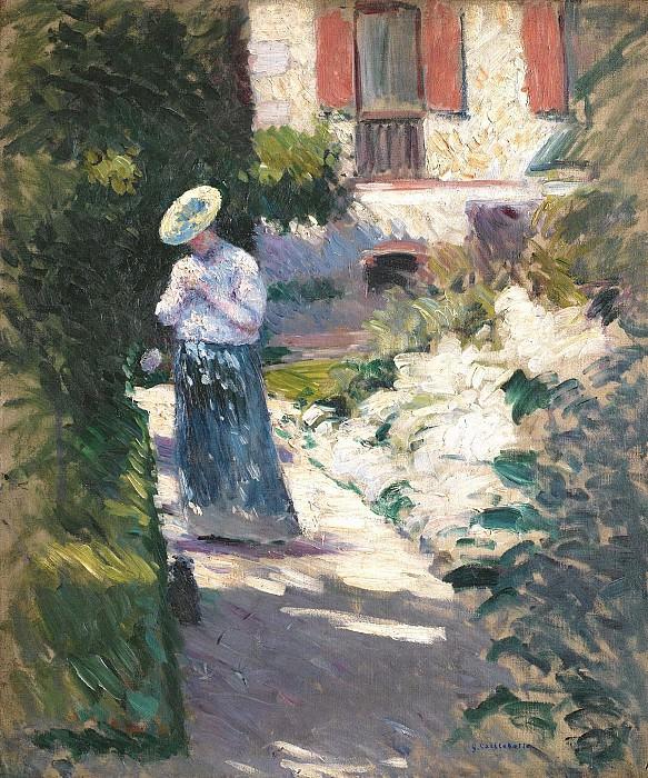 Gustave Caileibotte - Study for Les Dahlias, Jardin du Petit Gennevilliers. Sotheby's