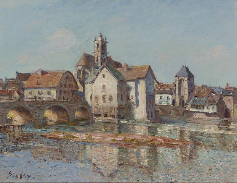 Alfred Sisley - The Bridge of Moret, 1892. Sotheby's