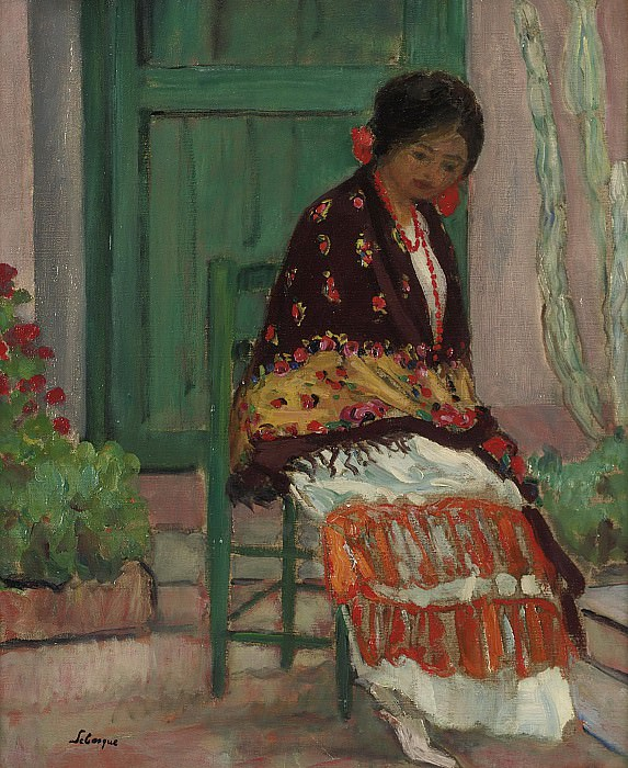 Henri Lebasque - Woman in Flowery Shawl. Sotheby's