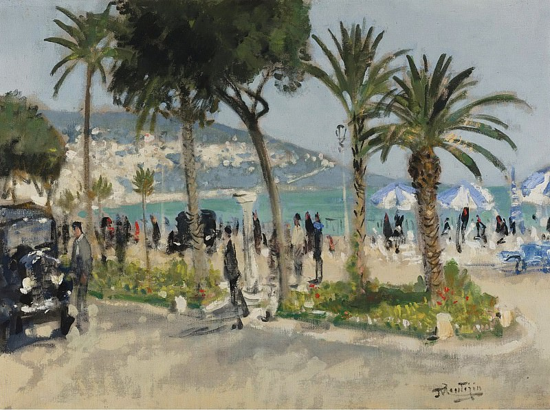 Pierre-Eugene Montezin - Promenade des Anglais, Nice. Sotheby's