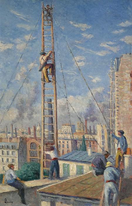 Люс, Максимильен - Scaffolds Raising, 1914. Картины с аукционов Sotheby's