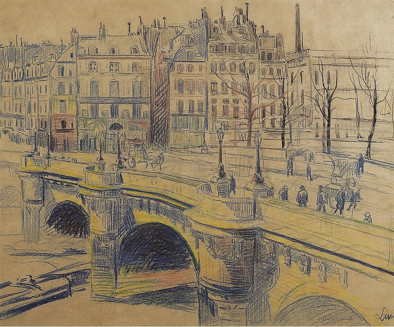 Maximilien Luce - pont Neuf and the Quay of Conti. Sotheby's