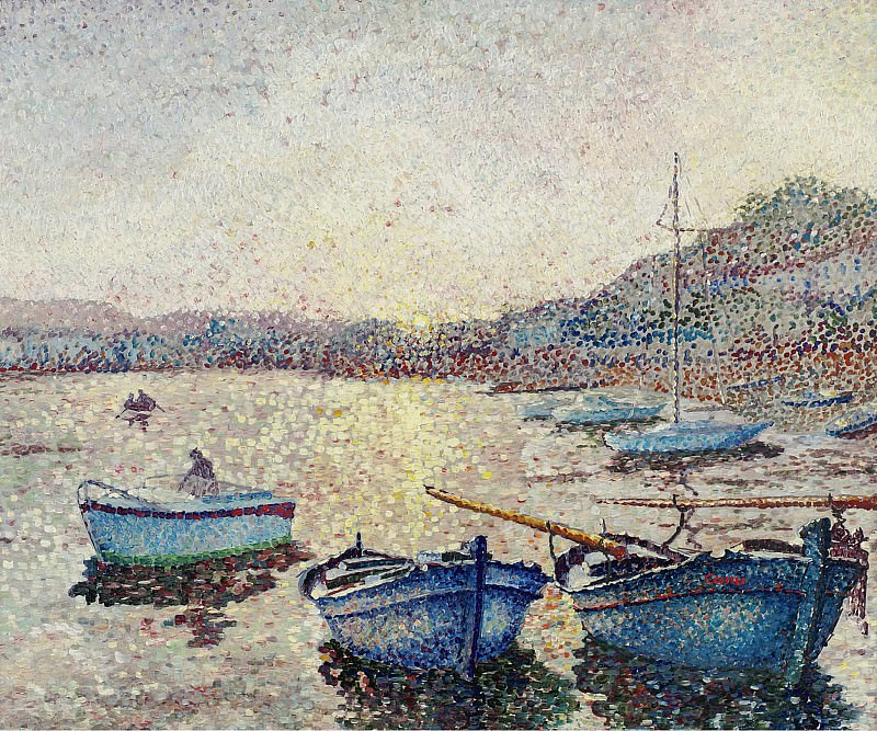 Yvonne Canu - Harbor Sunset. Sotheby's