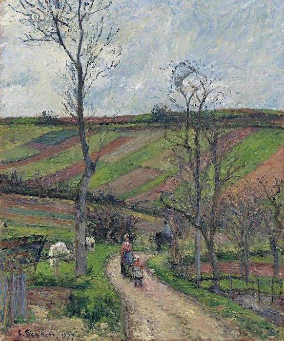 Camille Pissarro - Pontoise, 1877. Sotheby's