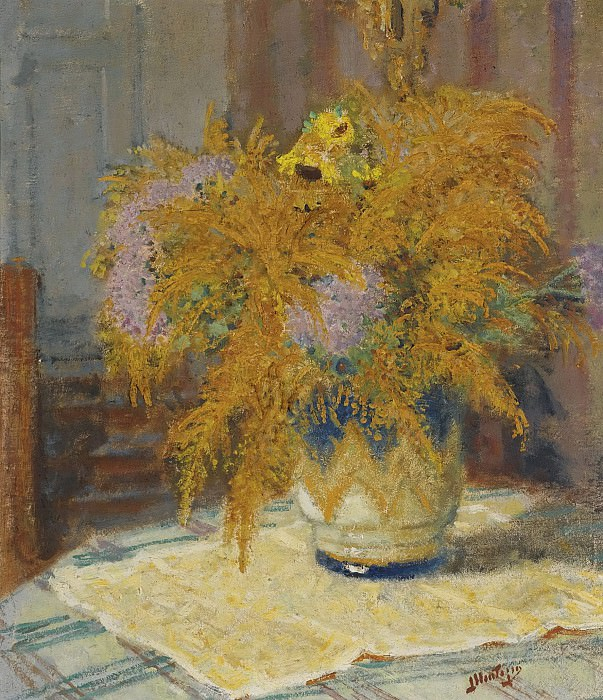 Pierre-Eugene Montezin - Bouquet of Flowers. Sotheby's